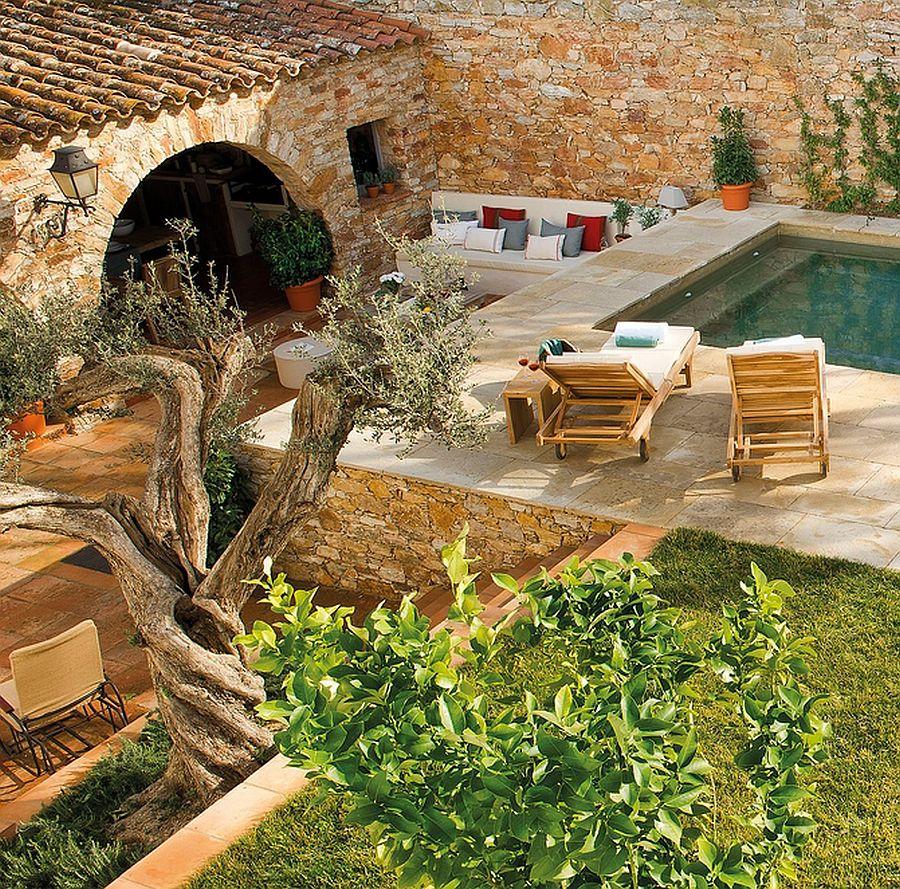 adelaparvu.com despre casa din piatra cu veranda si bucatarie de vara, casa Spania, Costa Brava, design Produccions de Disseny Bellera, Foto ElMueble (4)