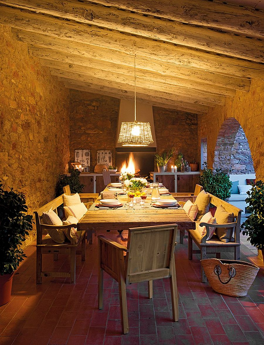 adelaparvu.com despre casa din piatra cu veranda si bucatarie de vara, casa Spania, Costa Brava, design Produccions de Disseny Bellera, Foto ElMueble (5)