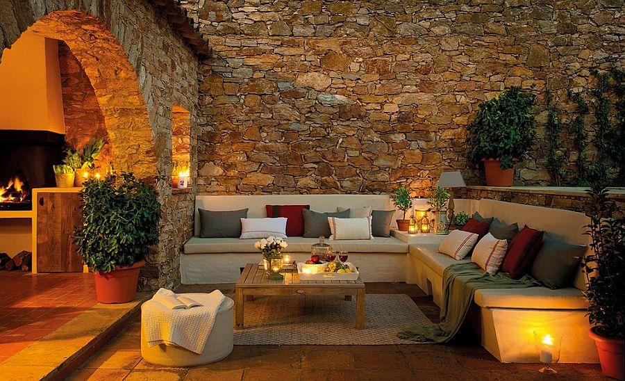 adelaparvu.com despre casa din piatra cu veranda si bucatarie de vara, casa Spania, Costa Brava, design Produccions de Disseny Bellera, Foto ElMueble (6)