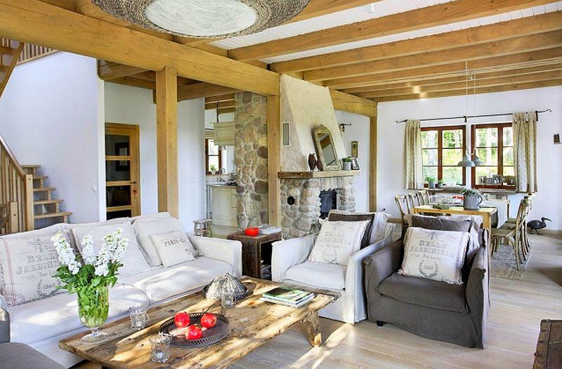 adelaparvu.com despre casa la tara din lemn cu fundatie de piatra, casa Polonia (1)