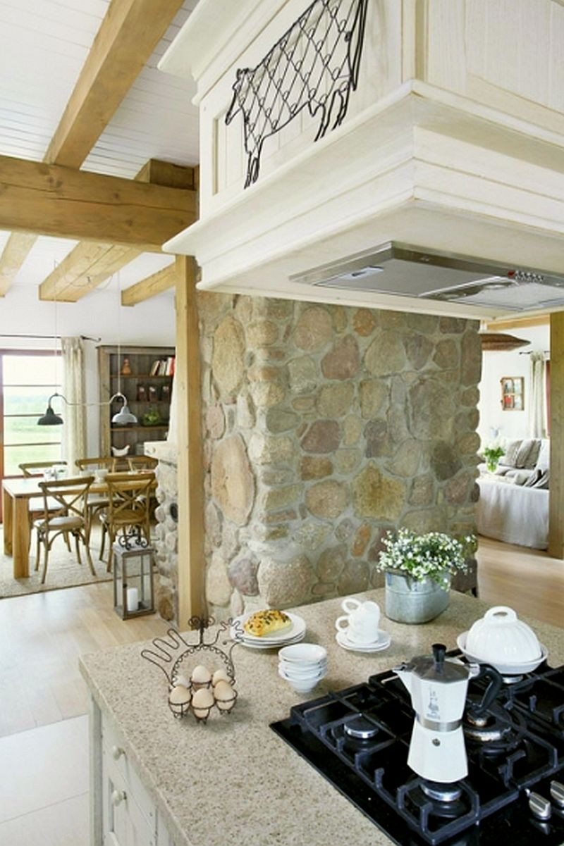 adelaparvu.com despre casa la tara din lemn cu fundatie de piatra, casa Polonia (16)