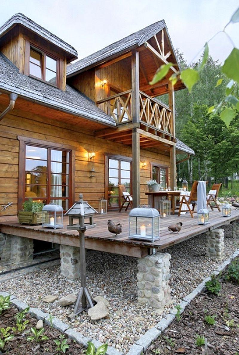 adelaparvu.com despre casa la tara din lemn cu fundatie de piatra, casa Polonia (2)