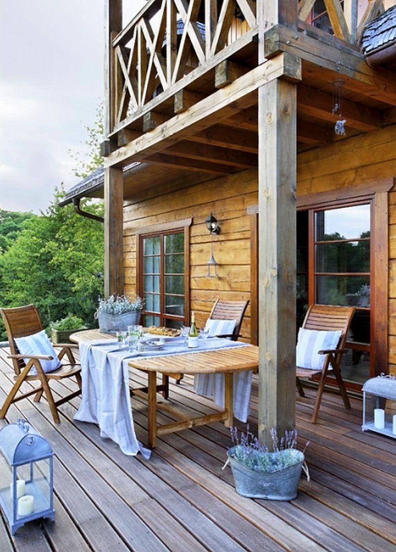adelaparvu.com despre casa la tara din lemn cu fundatie de piatra, casa Polonia (6)