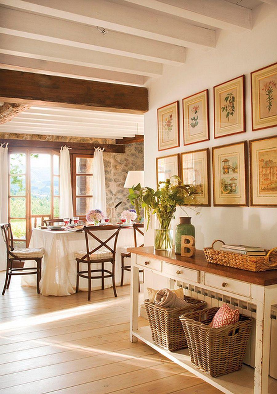 adelaparvu.com despre casa rustica din piatra, interior provensal, casa Spania, design interior Blanca Uriarte, Foto ElMueble (1)