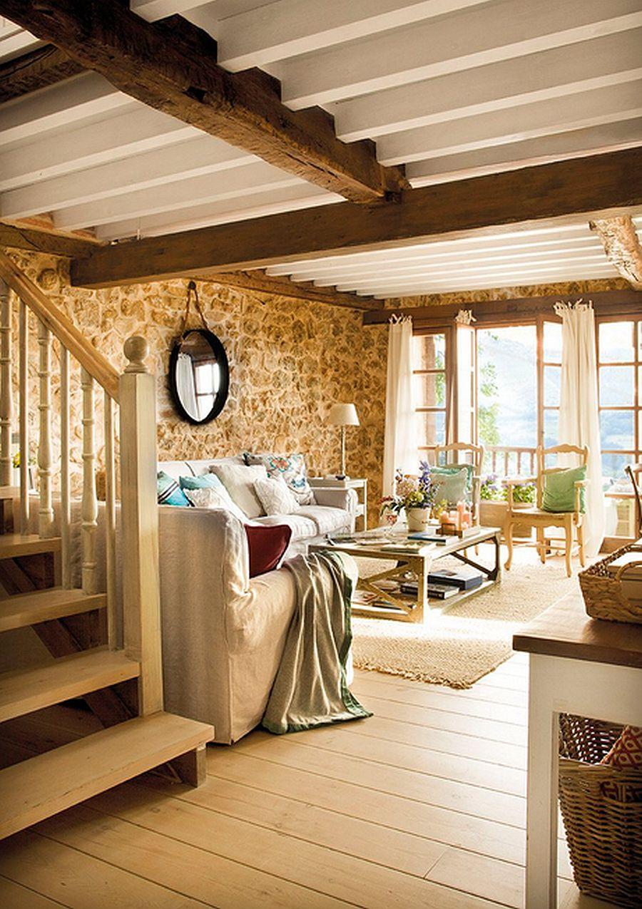 adelaparvu.com despre casa rustica din piatra, interior provensal, casa Spania, design interior Blanca Uriarte, Foto ElMueble (10)