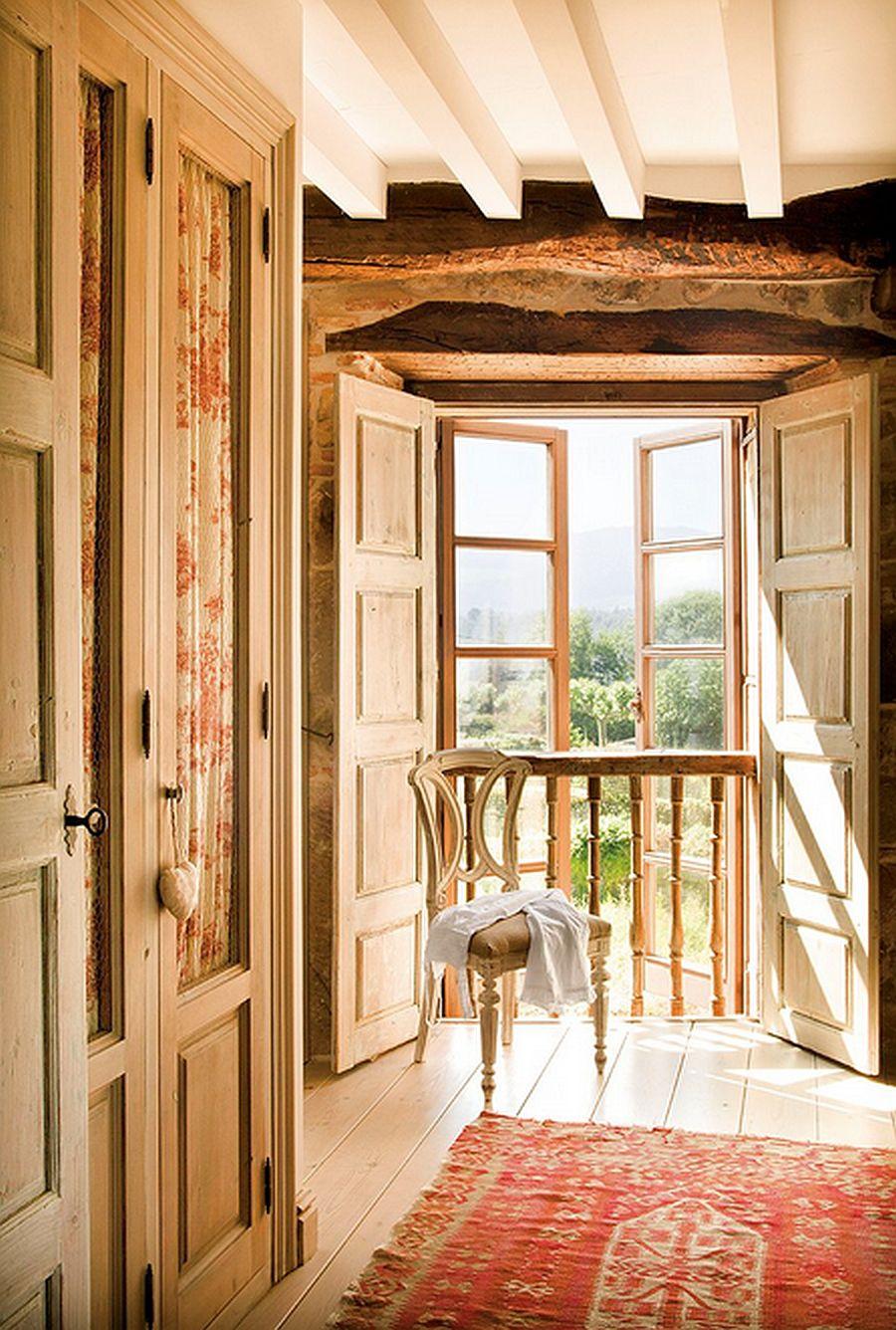 adelaparvu.com despre casa rustica din piatra, interior provensal, casa Spania, design interior Blanca Uriarte, Foto ElMueble (17)