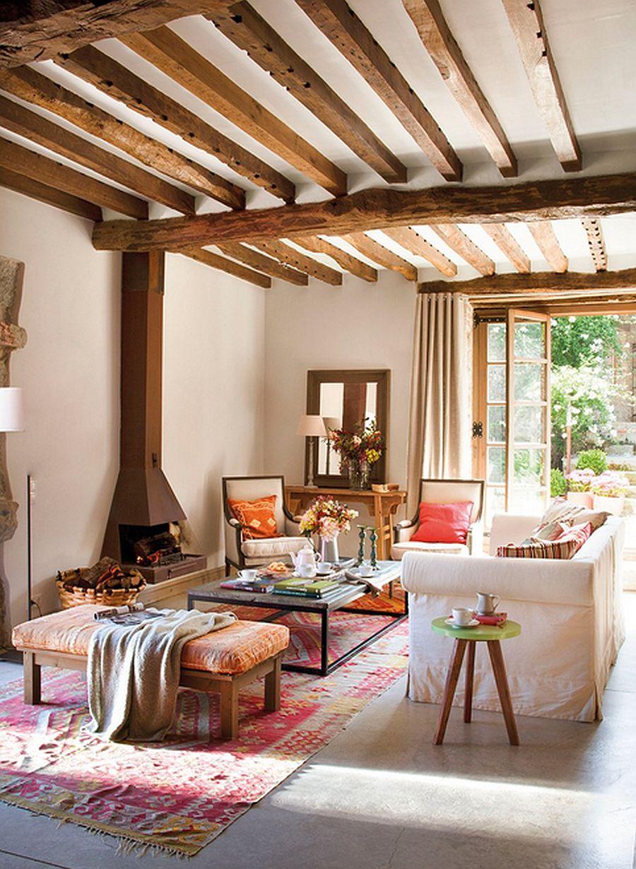 adelaparvu.com despre casa rustica din piatra, interior provensal, casa Spania, design interior Blanca Uriarte, Foto ElMueble (5)