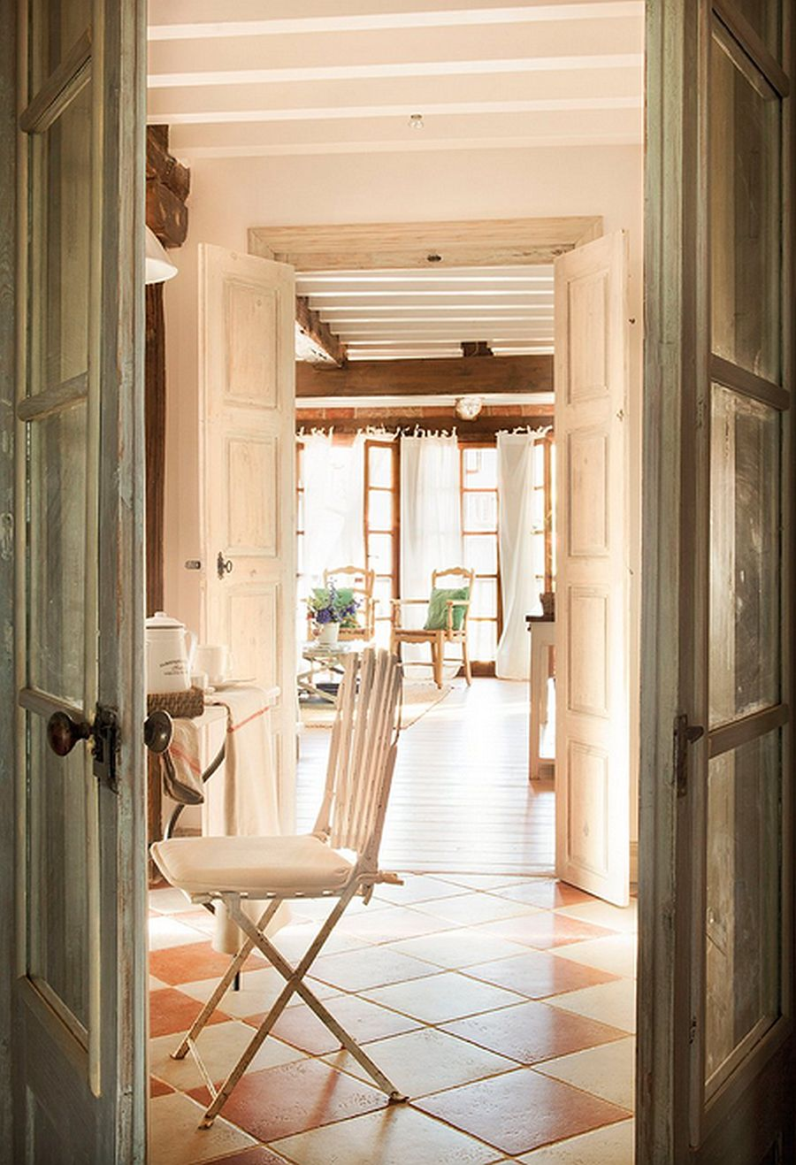 adelaparvu.com despre casa rustica din piatra, interior provensal, casa Spania, design interior Blanca Uriarte, Foto ElMueble (7)