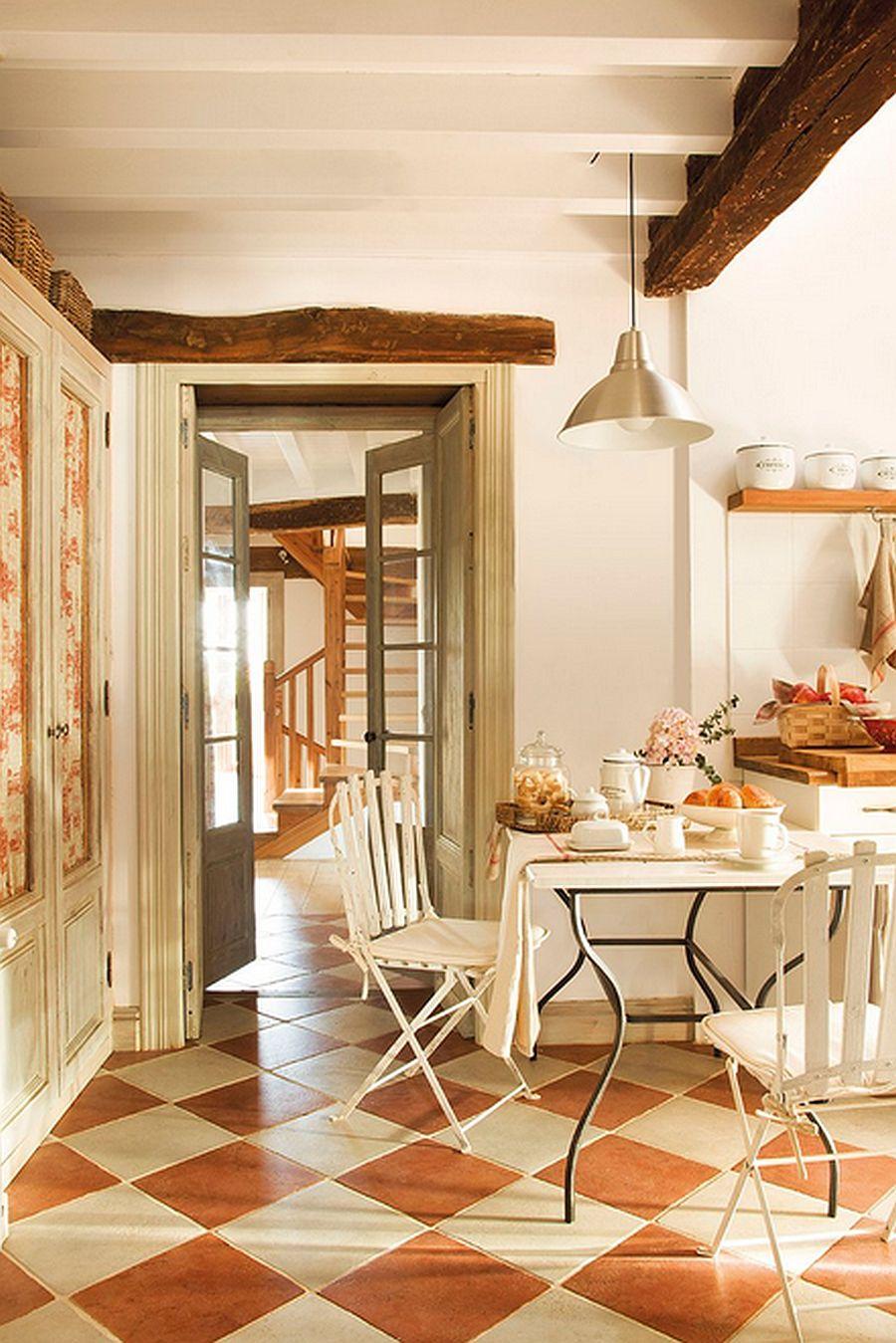 adelaparvu.com despre casa rustica din piatra, interior provensal, casa Spania, design interior Blanca Uriarte, Foto ElMueble (8)