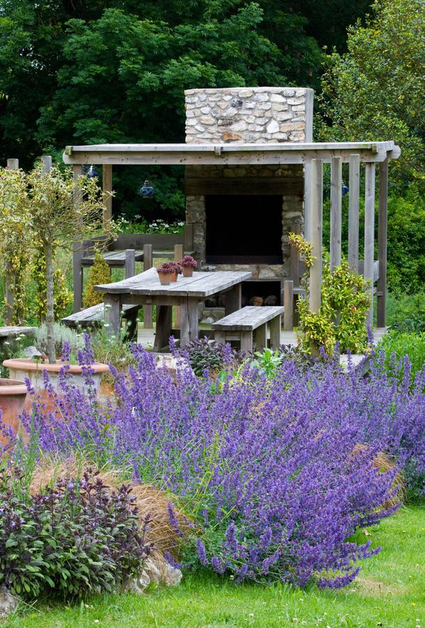 Bucatarie de vara, design Claire Matthews, Devon