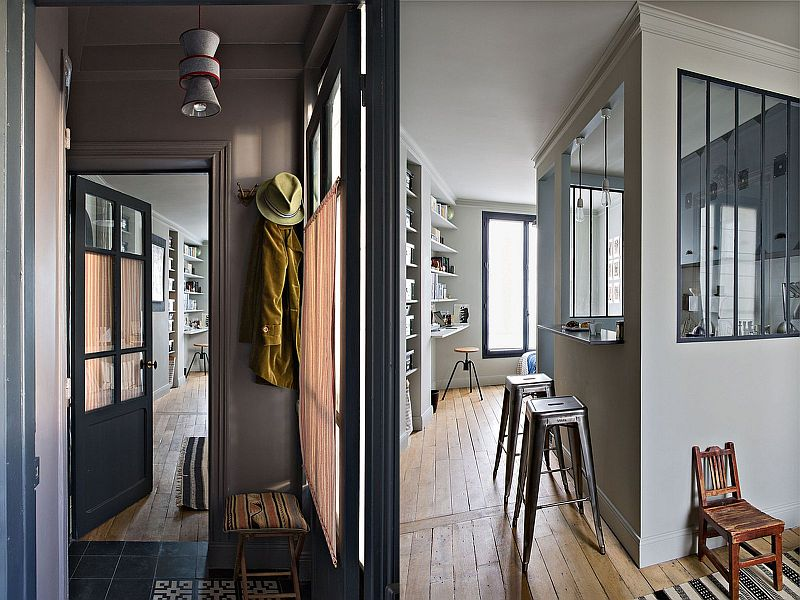 adelaparvu.com despre garsoniera 25 mp, locuinta mica Paris, designer Marianne Evennou