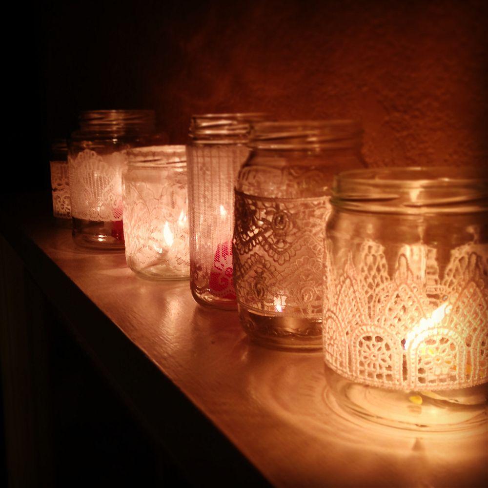 adelaparvu.com despre idei deco, borcane si ghivece decorate cu dantela (1)