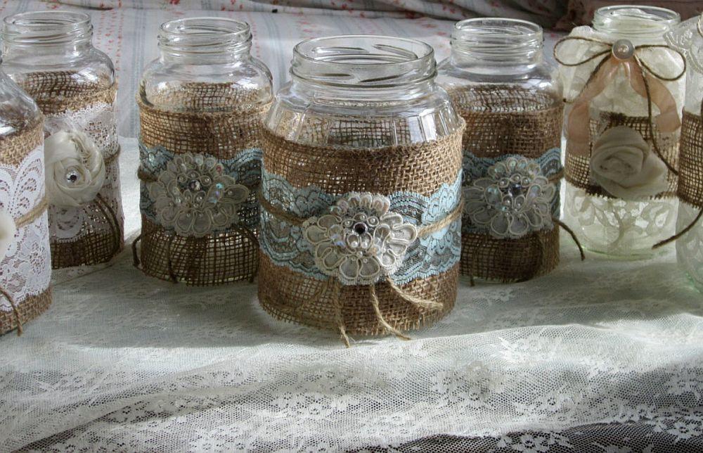 adelaparvu.com despre idei deco, borcane si ghivece decorate cu dantela (4)