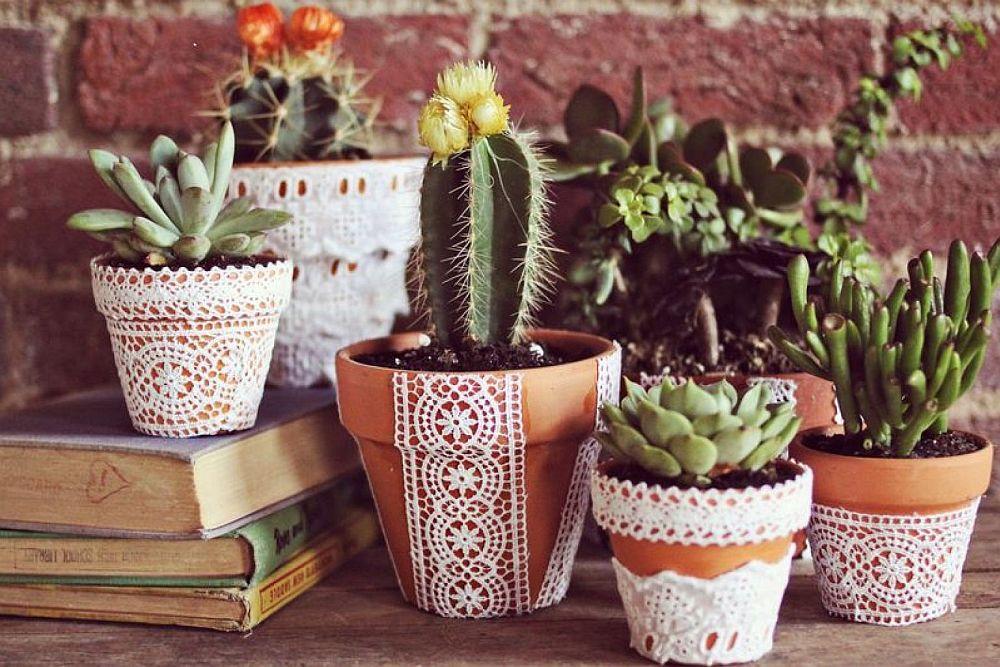 adelaparvu.com despre idei deco, borcane si ghivece decorate cu dantela (7)