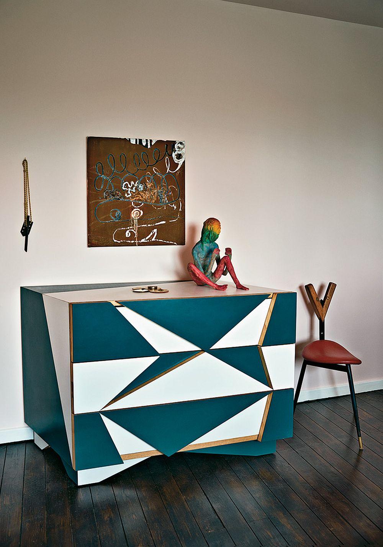 adelaparvu.com despre locuinta de artisti, apartament Londra, designeri Martino Gamper si Francis Upritchard, Foto Tom Mannion (7)