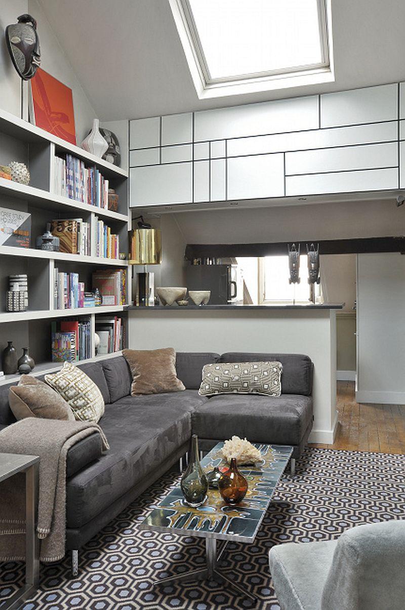adelaparvu.com despre mansarda 40 mp, mansarda Paris, designer Frabrice Juan  (1)