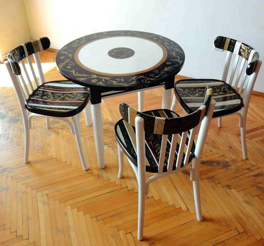 adelaparvu.com despre mobila pictata, artist Felix Albus, colectia EggCentrik (15)