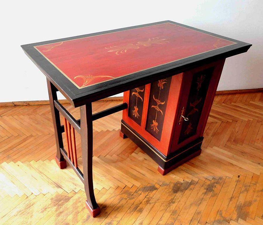 adelaparvu.com despre mobila pictata, artist Felix Albus, colectia EggCentrik (21)