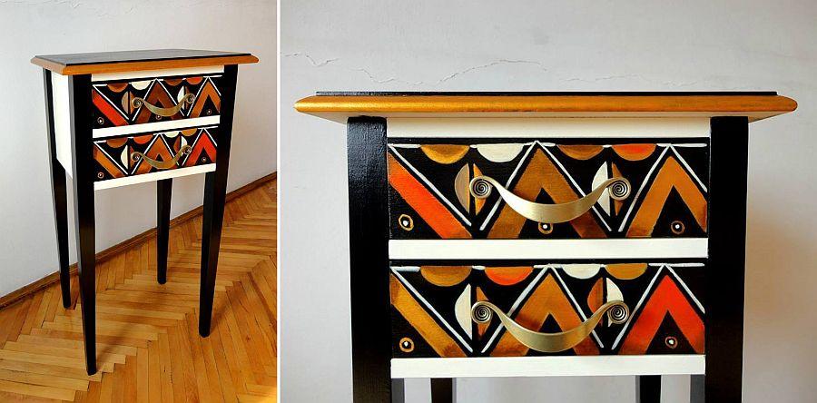 adelaparvu.com despre mobila pictata, artist Felix Albus, colectia EggCentrik (30)