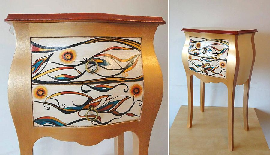 adelaparvu.com despre mobila pictata, artist Felix Albus, colectia EggCentrik (35)