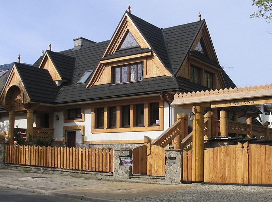adelaparvu.com despre peniunea in stil rustic bucovinean, WillaTatiana, Zakopane, Polonia (3)