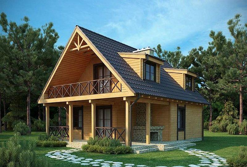 Proiecte de case mici cu suprafe e ntre 50 i 125 metri for Porche americano