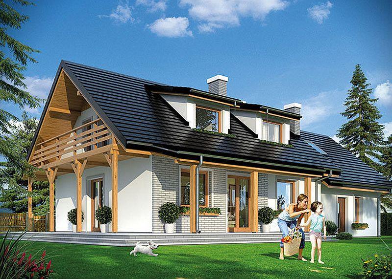 Proiecte de case mici cu suprafe e ntre 50 i 125 metri for Modeluri de case