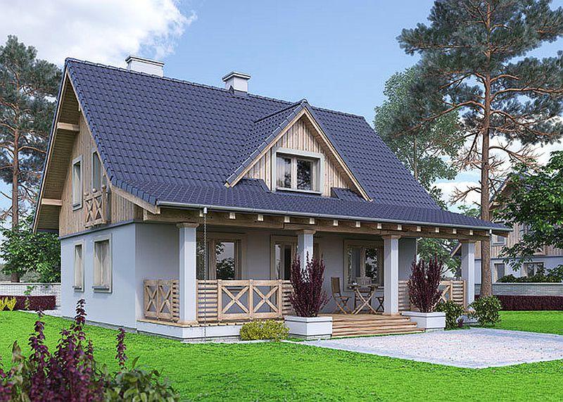 Proiecte de case mici cu suprafe e ntre 50 i 125 metri for Imagini case moderne