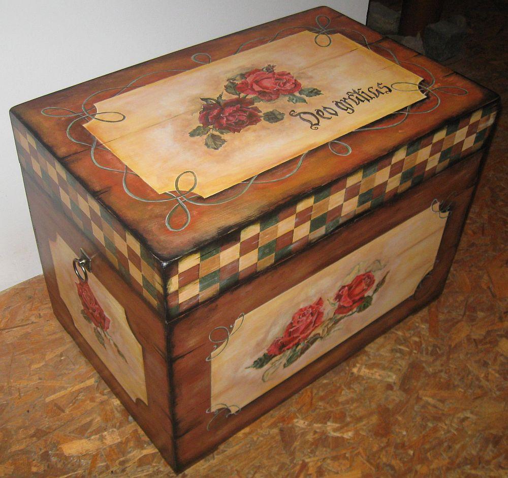adelaparvu.com despre tablouri, cufere si mic mobilier pictate, design Brindusa Art, artizan Brindusa Panc (14)