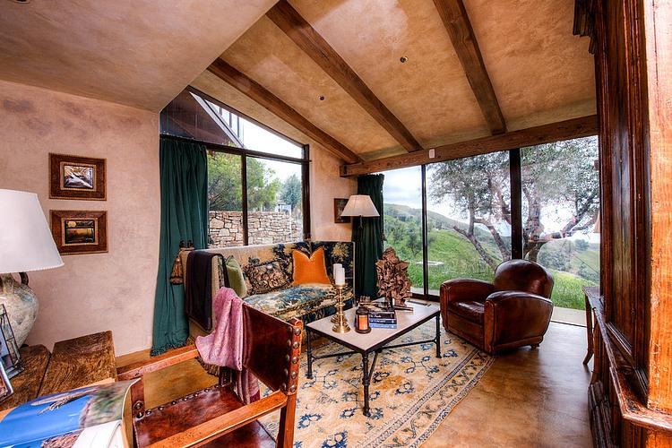 adelaparvu.com despre vila americana pe malul oceanului, casa in stil mediteranean, casa Big Sur, arhitect Mickey Muening (12)