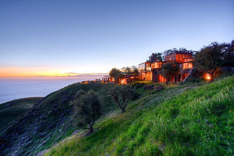 adelaparvu.com despre vila americana pe malul oceanului, casa in stil mediteranean, casa Big Sur, arhitect Mickey Muening (17)