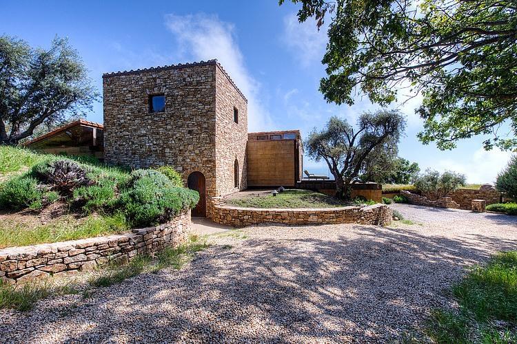 adelaparvu.com despre vila americana pe malul oceanului, casa in stil mediteranean, casa Big Sur, arhitect Mickey Muening (2)