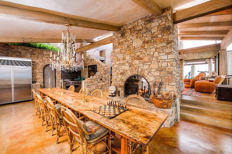 adelaparvu.com despre vila americana pe malul oceanului, casa in stil mediteranean, casa Big Sur, arhitect Mickey Muening (3)