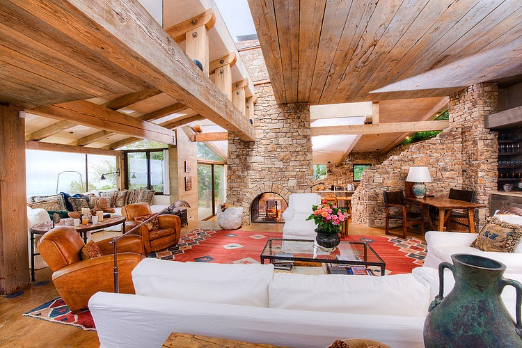 adelaparvu.com despre vila americana pe malul oceanului, casa in stil mediteranean, casa Big Sur, arhitect Mickey Muening (4)