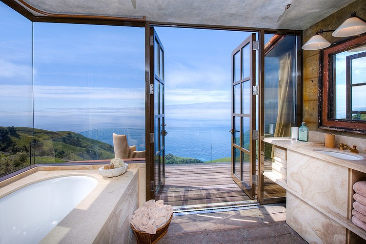 adelaparvu.com despre vila americana pe malul oceanului, casa in stil mediteranean, casa Big Sur, arhitect Mickey Muening (6)