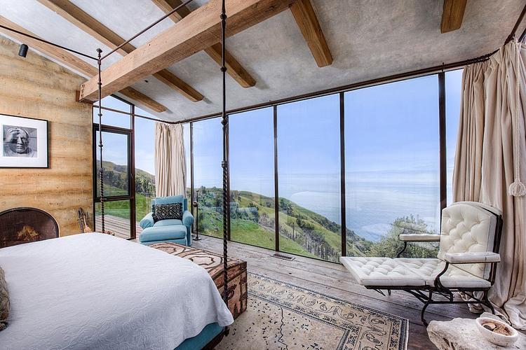 adelaparvu.com despre vila americana pe malul oceanului, casa in stil mediteranean, casa Big Sur, arhitect Mickey Muening (8)