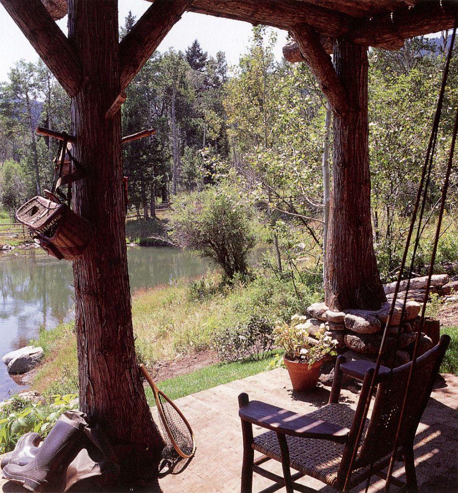 adelaparvu.com casa de pescuit din lemn si piatra, design Miller Architects (3)