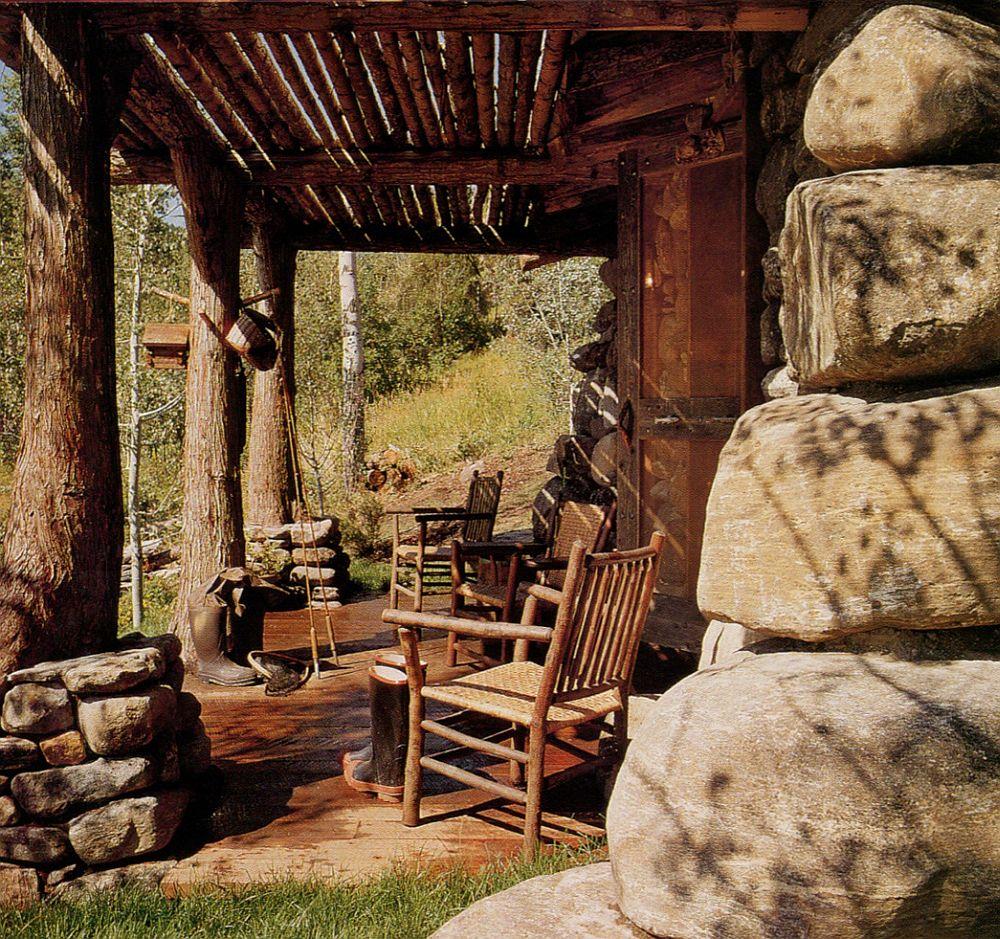 adelaparvu.com casa de pescuit din lemn si piatra, design Miller Architects (4)