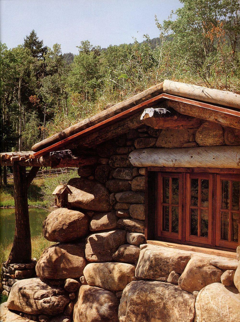 adelaparvu.com casa de pescuit din lemn si piatra, design Miller Architects (6)