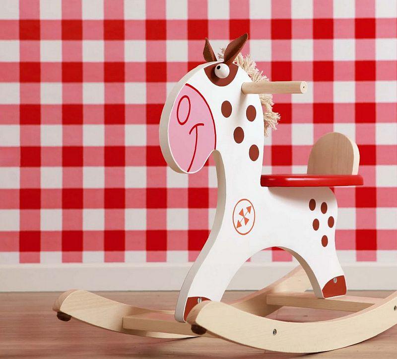 adelaparvu.com despre Marvelous Store, Romania, fabrica de jucarii si mobilier din lemn pentru copii, in foto Balansoar ponei indian2