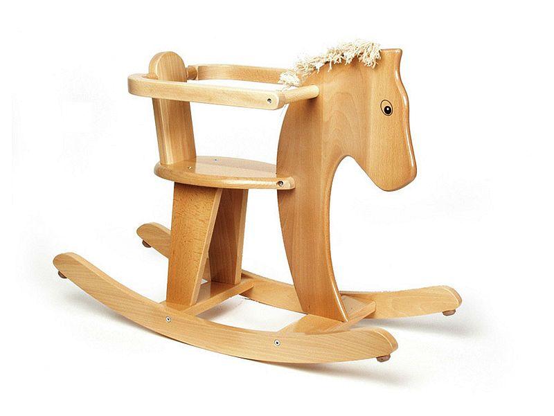adelaparvu.com despre Marvelous Store, Romania, fabrica de jucarii si mobilier din lemn pentru copii, in foto balansoar calut cu coama