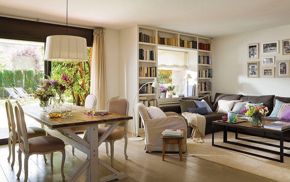 adelaparvu.com despre amenajare locuinta trei camere 90 mp, bilioteca in jurul ferestrei, Foto ElMueble (12)