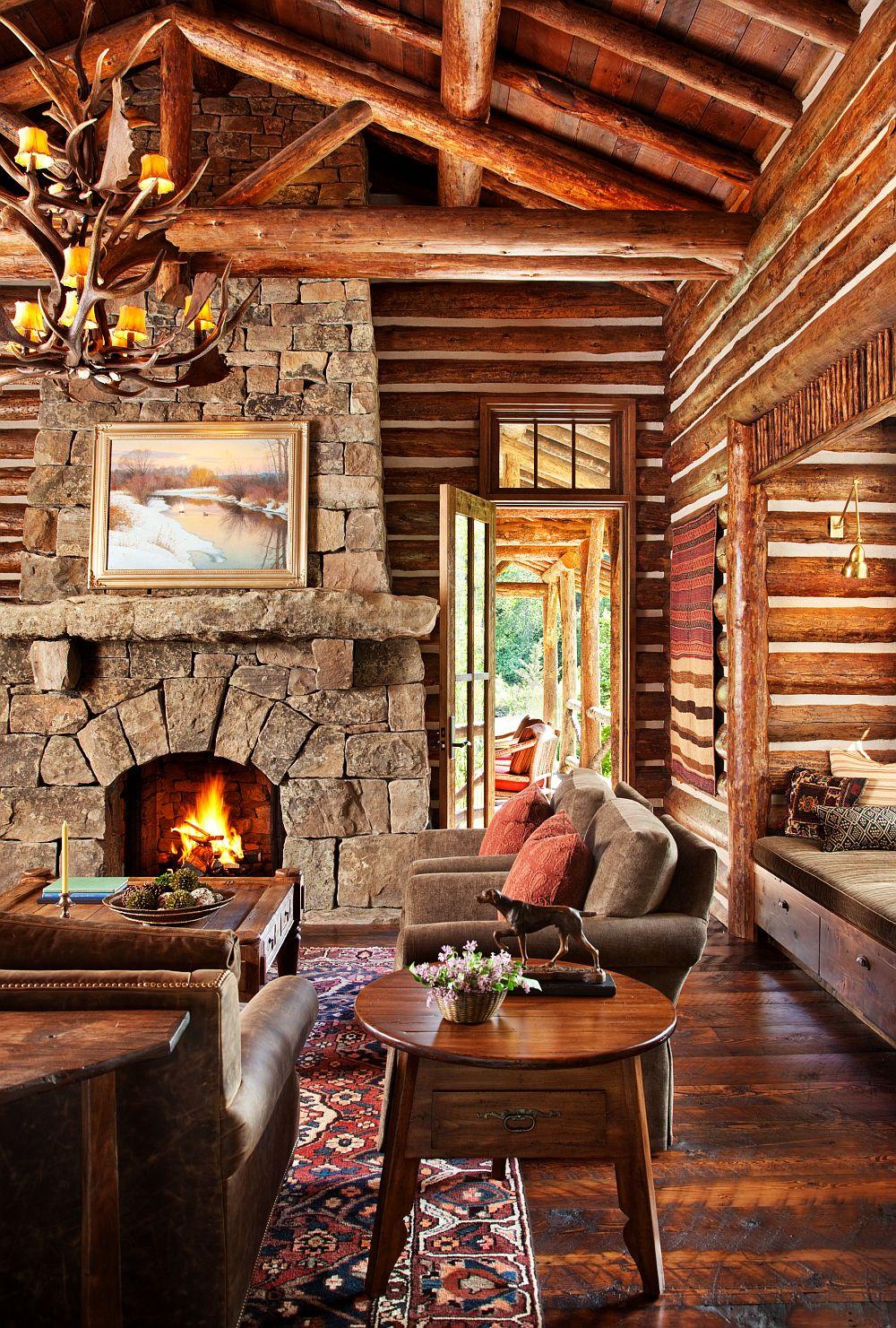 adelaparvu.com despre cabana din barne de lemn in Montana, design Miller Architects, casa lemn SUA, casa lemn Paradise Valley (1)