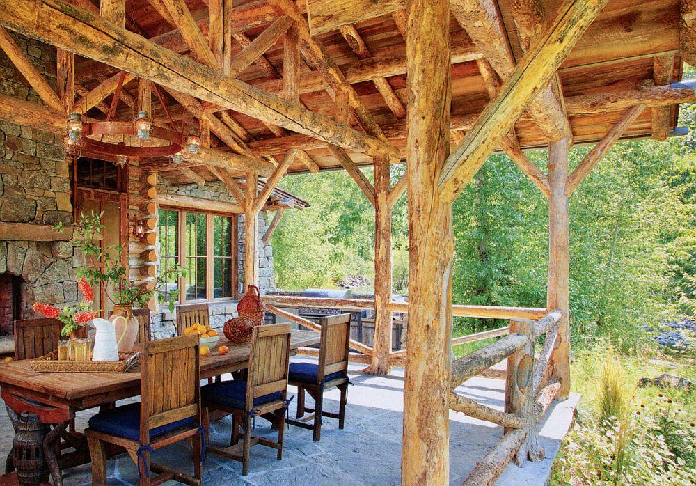 adelaparvu.com despre cabana din barne de lemn in Montana, design Miller Architects, casa lemn SUA, casa lemn Paradise Valley (12)