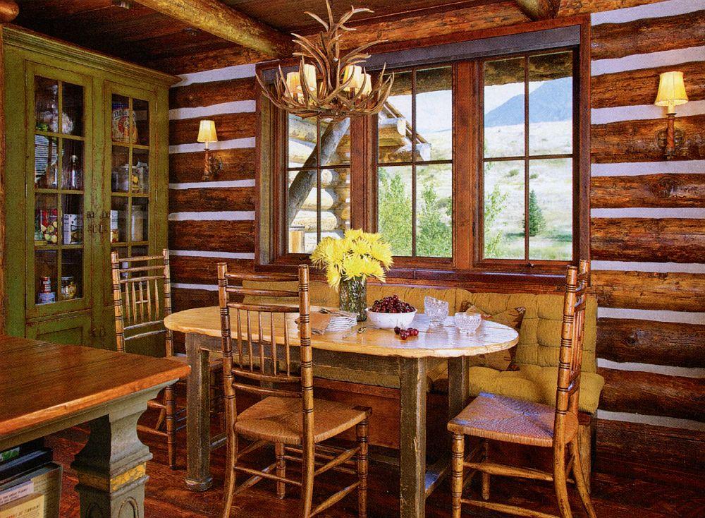 adelaparvu.com despre cabana din barne de lemn in Montana, design Miller Architects, casa lemn SUA, casa lemn Paradise Valley (13)