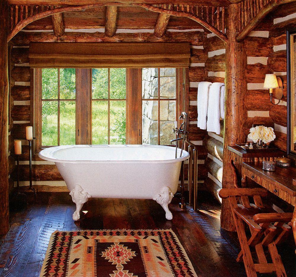 adelaparvu.com despre cabana din barne de lemn in Montana, design Miller Architects, casa lemn SUA, casa lemn Paradise Valley (15)
