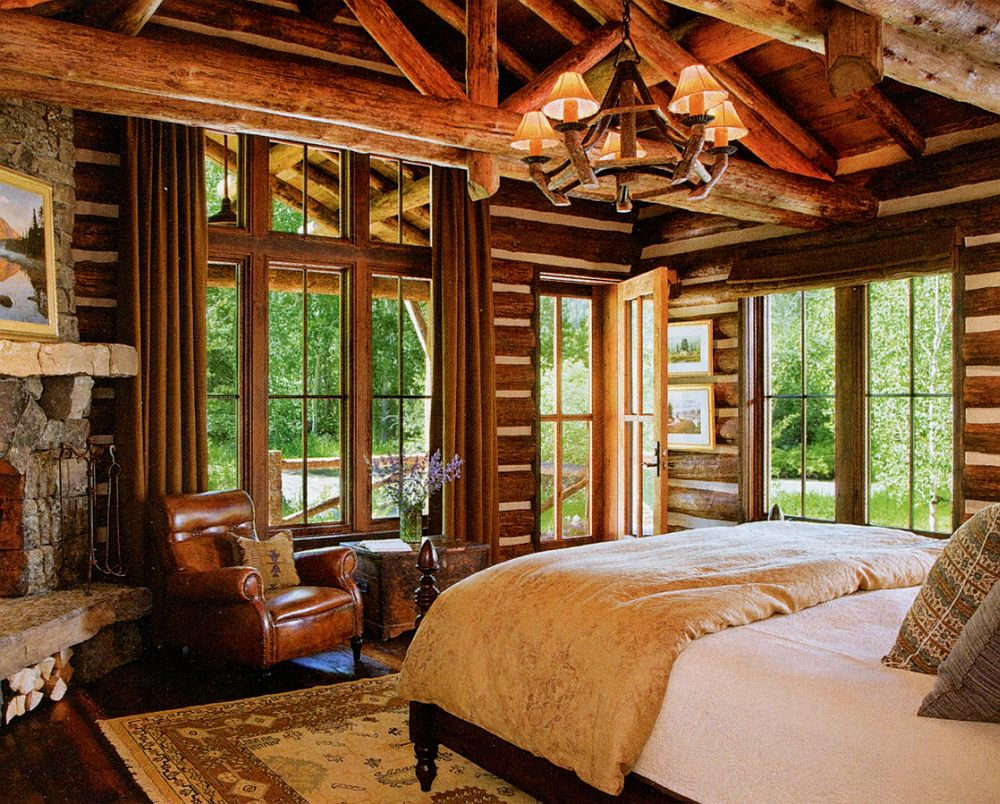 adelaparvu.com despre cabana din barne de lemn in Montana, design Miller Architects, casa lemn SUA, casa lemn Paradise Valley (16)