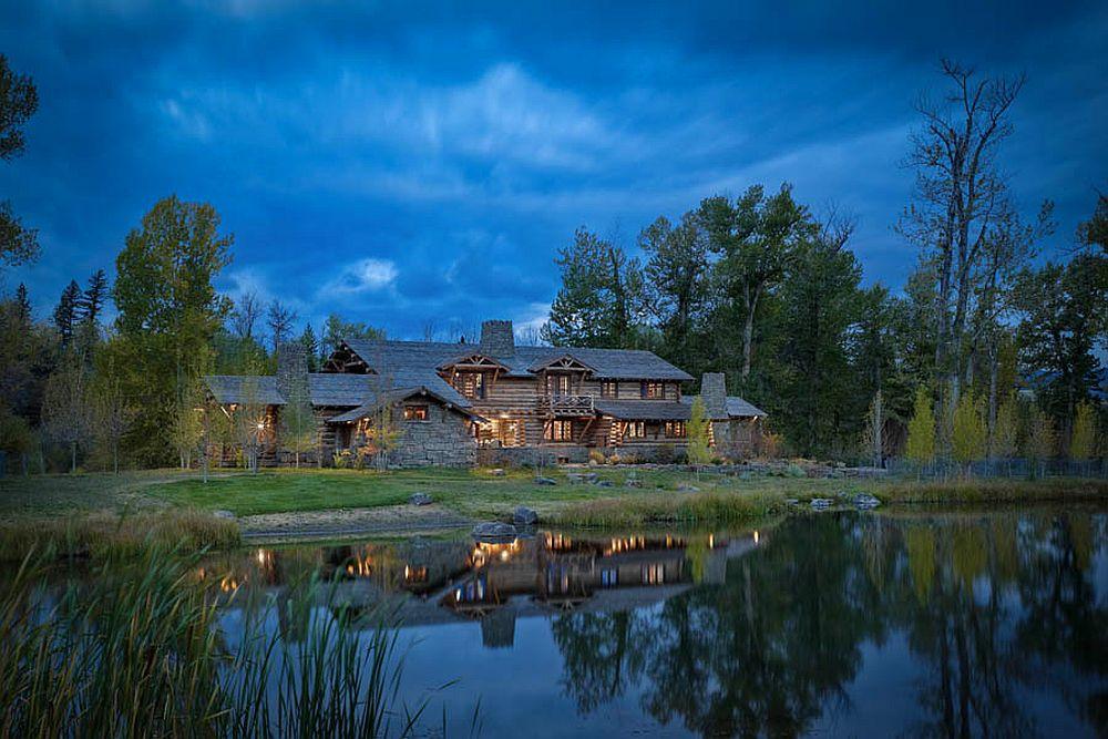adelaparvu.com despre cabana din barne de lemn in Montana, design Miller Architects, casa lemn SUA, casa lemn Paradise Valley