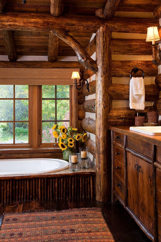 adelaparvu.com despre cabana din barne de lemn in Montana, design Miller Architects, casa lemn SUA, casa lemn Paradise Valley (2)