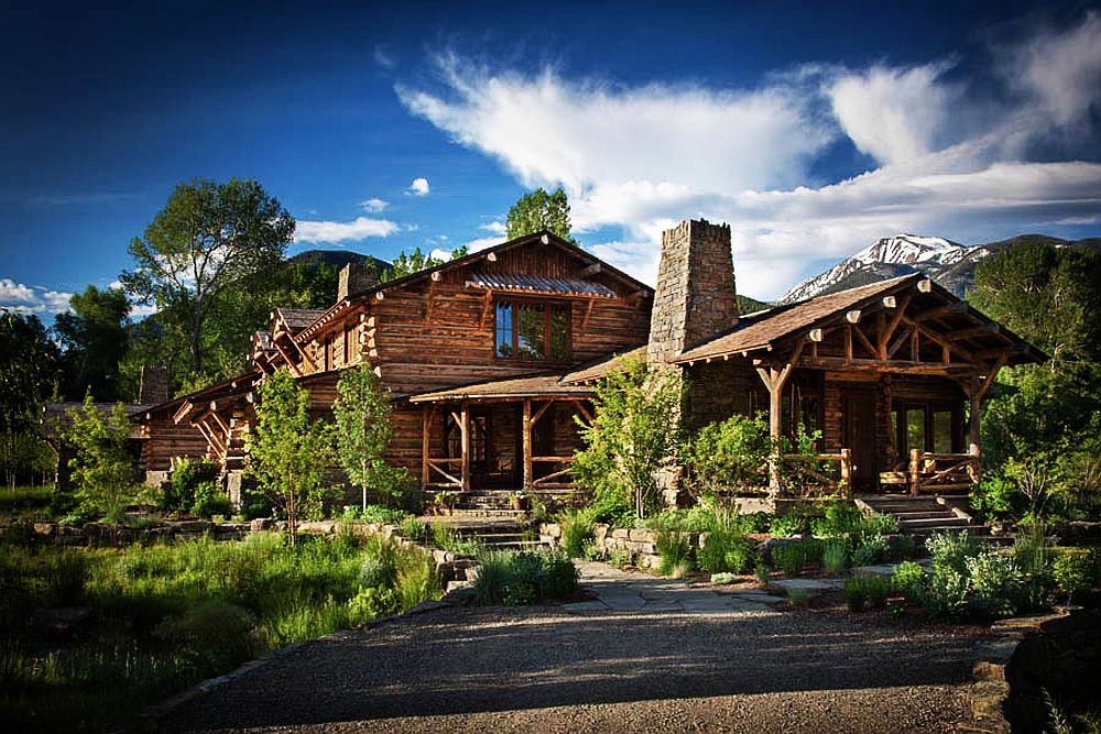 adelaparvu.com despre cabana din barne de lemn in Montana, design Miller Architects, casa lemn SUA, casa lemn Paradise Valley (20)